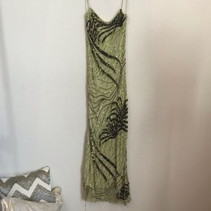 NWT Cache Gown Sz 8 Beads Sequin Needs Repair